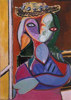 Picasso - Femme au Chapeau cubism portrait
