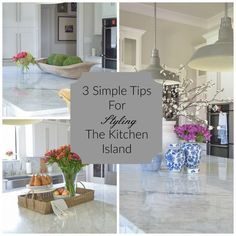 ZDesign At Home: 3 Simple Tips for Styling Your Kitchen Island (scheduled via http://www.tailwindapp.com?utm_source=pinterest&utm_medium=twpin&utm_content=post142293625&utm_campaign=scheduler_attribution)