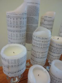 Music applied to candles.