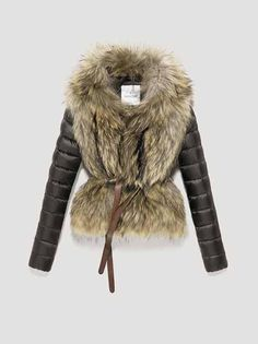 moncler fur and leather coat, need smaller boobs for this. sigh.