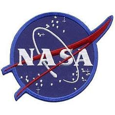 """Nasa Vector Iron on Patch / 4.5"""" Collectors Badge / Applique Astronaut Space Costume Diy Bag, Tshirt, Hat, Scarf, Jeans - Free Shipping!"""