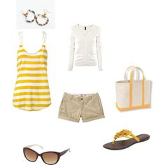 summer yellow, created by mrsgrundie on Polyvore