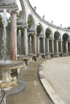 On the grounds of the Palace of Versailles.