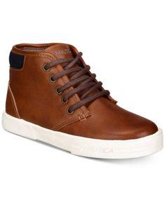 05c9fc8cf70 Nautica Little & Big Boys Breakwater Chukka Sneakers - Tan/Beige 1 Brown  Sneakers,