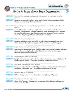 Myths and Facts Teen Depression