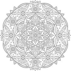 Welcome to Dover Publications  From: Creative Haven Snowflake Mandalas Coloring Book