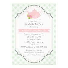 Teapot wedding - bridal shower invite