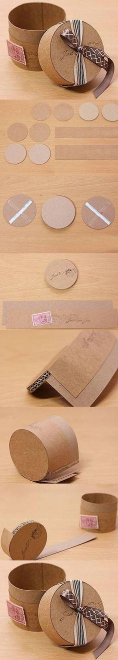 DIY Round Cardboard Gift Box
