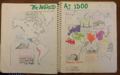 World History interactive notebook page on the World at 1500. Includes notes and pictures for the Ottomans, Ming China, Mughal Empire, Japan, Songhai, Inca, Mayans, and more.