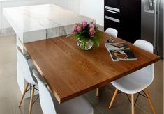Ilot Central Table Escamotable Cuisine Pinterest