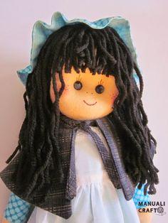 Muñeca de fieltro country   Manualicraft - Amigurumi, scrap y costura creativa