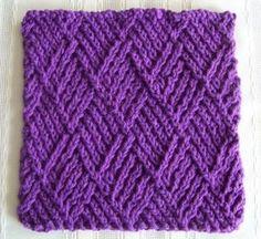 Free kitchen dishcloth pattern~ http://lawsofknitting.com/awesome-knitted-gifts/kitchen-dishcloth-twist-stitch-diamonds/