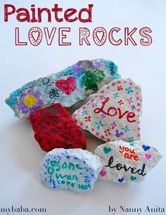 Spread the love by making and hiding these painted love rocks in your local area. Fabric Hearts, Paper Hearts, Crafts To Make, Crafts For Kids, Arts And Crafts, Valentines For Kids, Valentine Day Crafts, Education Journals, Pattern Pictures