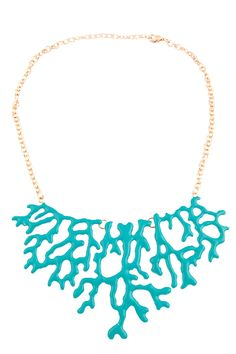 blue-green coral bib necklace-such a good idea for Shrinky Dinks!