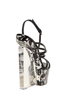 CASADEI - 150MM PATENT AND MOTHER OF PEARL WEDGES