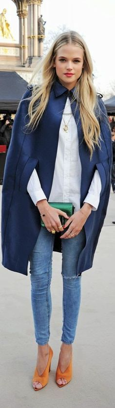 Street style | Edgy cape coat | Latest fashion trends