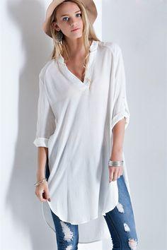 Sloan Shirt in White