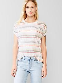 Mix-stripe crew tee. Make sure to use Gap Discount and Voucher Codes to get significant discounts on your purchase.