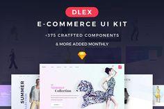 Dlex E-Commerce UI Kit Ultimate  @creativework247