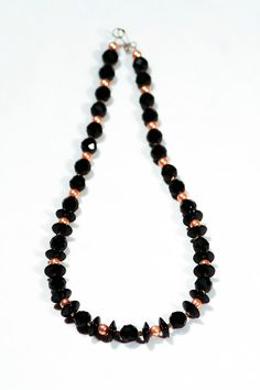 Gorgeous Statement Necklace from Onyx, Malorca Pearl and Hematite Gemstones