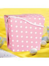 Polka Dot Pink Baby Shower Favor Pails-Party City