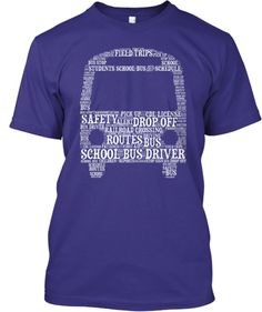 School Bus Driver - Word Art T-Shirt