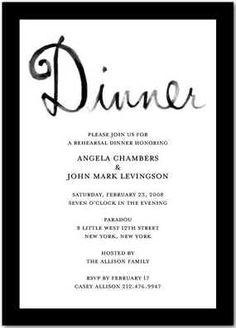 Invite ideas - rehearsal dinner