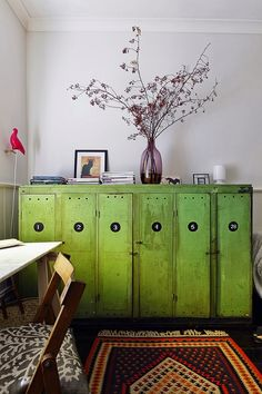 Vintage lockers for your home industrialise style industriel armoire