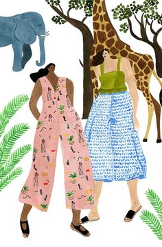 We see the best versions of our outfitted selves in the work of the illustrator Isabelle Feliu. She draws women in clothes that feel alive, real, and playful.