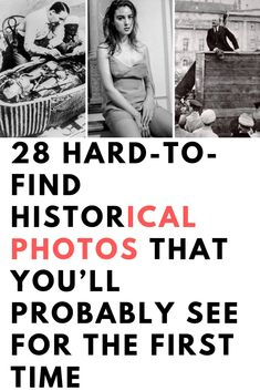 28 Hard-to-Find Historical Photos That You'll Probably See for the First Time - Inspiral Viral Wierd Facts, Intresting Facts, Wtf Fun Facts, Funny Facts, Weird Pictures, Old Pictures, Old Photos, Vintage Photos, Strange History
