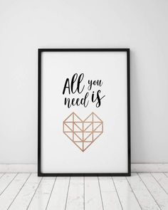 ALL YOU NEED is love  Corazón geométrico  Corazón by TheFactory17