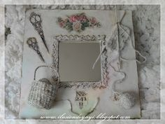 De Todo Un Poco: TUTORIAL: MALMAS PARA CUARTO DE COSTURA Altered Mirror Frame Tutorial