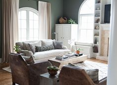 We love this serene living room by designer Hannah Maple. Gorgeous soothing palette and textures!