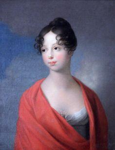1800s Grand Duchess Ekaterina Pavlovna of Russia by Johann Friedrich Tischbein (location unknown to gogm)   Grand Ladies   gogm
