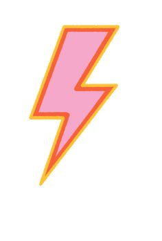 lightning bolt Sticker by Women's Health for iOS & Android Photo Wall Collage, Picture Wall, Lightning Final Fantasy Xiii, Alphabet Wall Art, Homemade Stickers, Beer Pong Tables, Lightning Bolt, Pink Aesthetic, Cute Stickers
