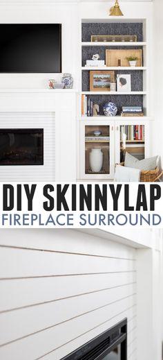 DIY Skinnylap Fireplace Surround | The Creek Line House