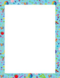 Free Kindergarten Border Templates Including Printable Paper And Clip Art Versions File Formats Include Gif Jpg Pdf Png