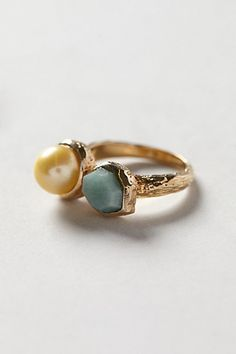 Pearl Beacon Ring #anthropologie