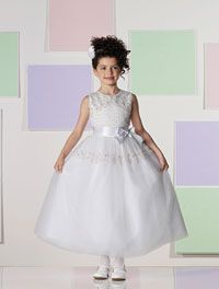 #GirlsDresses - Joan Calabrese Style 111383 - SALE White Only sizes 6, 10 or 14