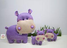 ♥♥♥ Os hipopotamos ... by sweetfelt  ideias em feltro, via Flickr
