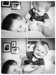 newborn sibling photography: haha this is so my kids right now! need to get a photo like this of them! Baby Pictures, Baby Photos, Cute Pictures, Sibling Photography, Children Photography, Sibling Photos, Family Photos, Shooting Photo Famille, Kodak Moment
