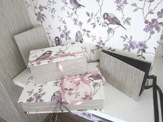 Hand made boxes and album
