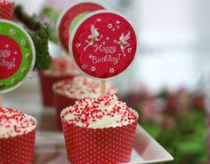 Fairy birthday party cupcakes ~ printables from thecelebrationshoppe.com