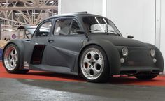 Dependable Auto Shippers Here is how we became number 1. #LGMSports Ship it with http://LGMSports.com Vintage Fiat 500 with a Lamborghini V12 stuffed in the back seat