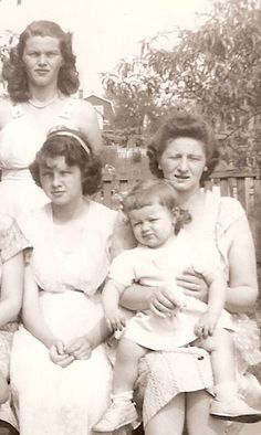 Theresa, Ellen and Barbara with their mother, Julia Halifko-Clement