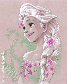 briannacherrygarcia: #myart #frozen #frozenfever #elsa #tonedpaper