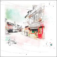 Chris Asbury shares one of her favorite methods of adding color to a black and white sketched image.