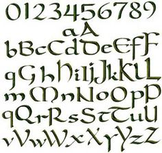 CELTIC  FONT. For the 4x4 hoop Prim/folk art Machine Embroidery Designs. $6.99, via Etsy.
