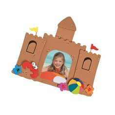 Sandcastle Picture Frame Magnet Craft Kit Hawaii or Florida Picture Magnets, Picture Frames, Summer Crafts For Kids, Summer Art, Castle Pictures, Frame Crafts, Beach Crafts, Oriental Trading, Craft Kits