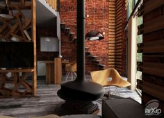 2 Level Loft: интерьер, зd визуализация, квартира, дом, лофт, стена, 50 - 80 м2, студия, интерьер #interiordesign #3dvisualization #apartment #house #loft #wall #50_80m2 #studio #atelier #interior arXip.com